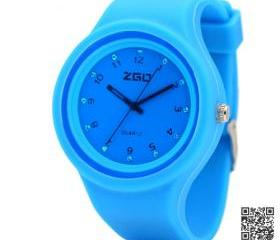 Women wristwatch silicone Crystal jelly rubber bracelets 6Color sports watches