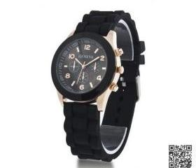 Women Watches Silicone Unisex Black Jelly Sports Wrist Watch 15colors