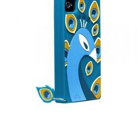 iPhone 4/4S case Chic Peacock silicone case