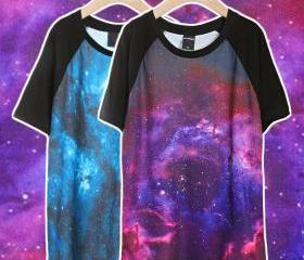 Lovers' Chic Galaxy Space Starry T Shirt Stylish Jumper