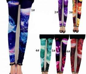 Chic Galaxy Space Cosmic Printed Tights Leggings Pants