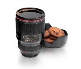 Geek Camera Lens Cup Top Stylish Coffee Mug