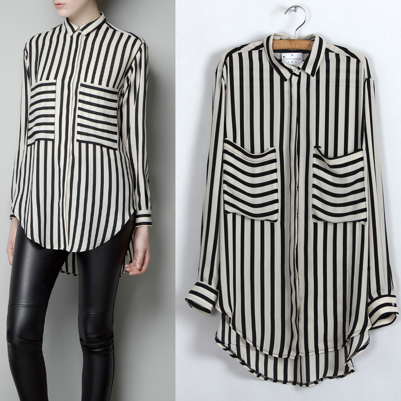 Black And White Long Shirt